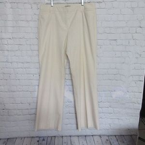 Woman's Flare Pants Gingham Yellow & White Stripes